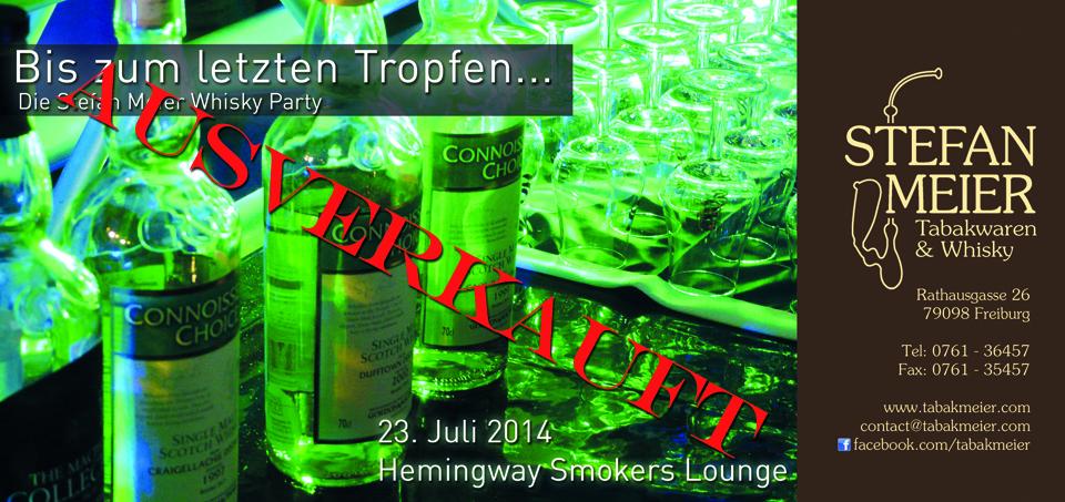 Whisky Party 2014 Flyer front ausverkauft